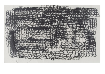 """Overlap 2020 Ink on Japanese Paper 8"""" x 4"""""""